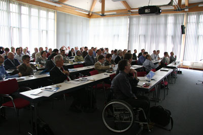 People gather at the European user meeting